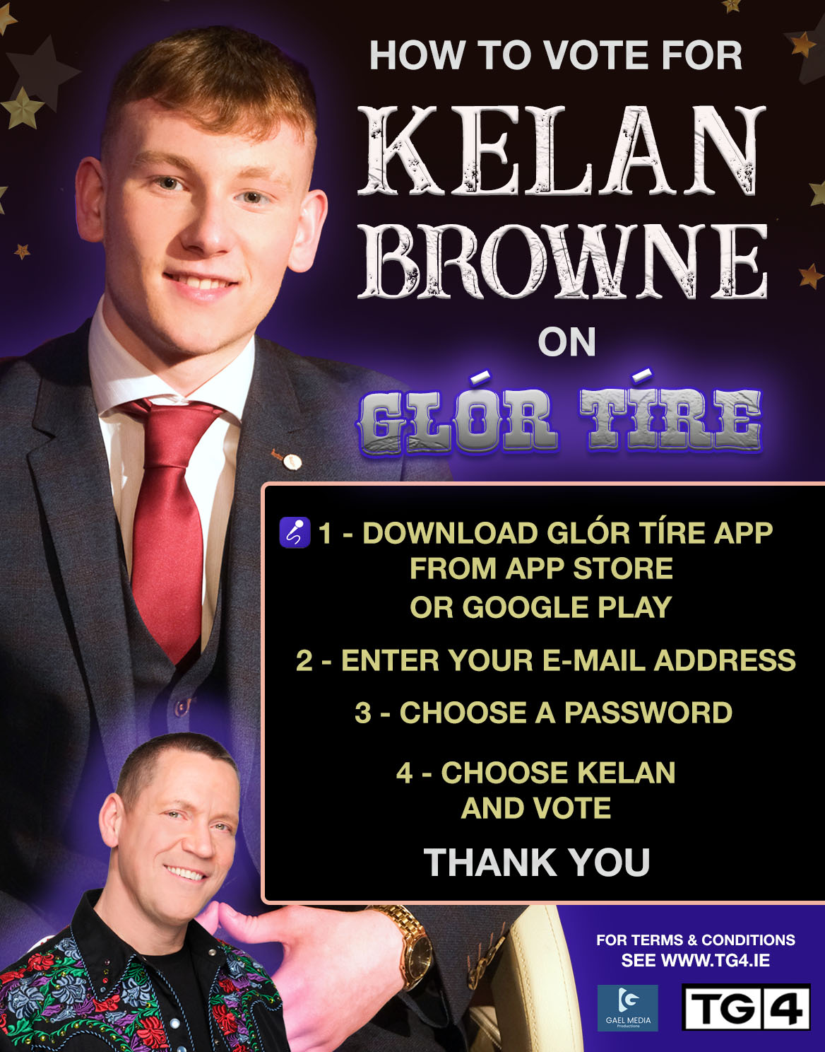 Kelan Browne - Contestant on Glor Tire 2021 with mentor Robert Mizzell - new series starting 5th January 2021